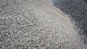 Small piles of limestone for use in lime kiln line . Limestone gravel background Texture stock image