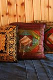 Small pillows. Oriental style Royalty Free Stock Photos