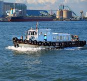 Small Pilot Boat in Kaohsiung Harbor Royalty Free Stock Photos