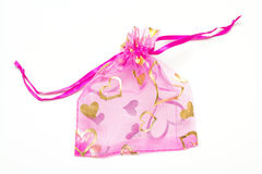 Small pink bag for presents Stock Images