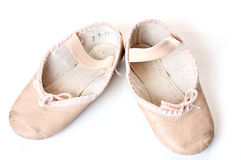 Small pink ballet shoes Stock Images