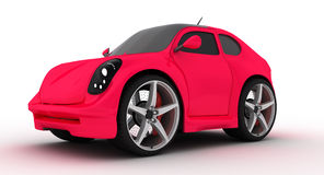 Small pink car. Small pink concept car isolated on white Stock Photos