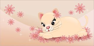 Small pink cat Royalty Free Stock Image