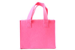 Small pink felted handbag Stock Image