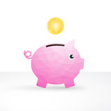 Small pink pig money box Royalty Free Stock Images