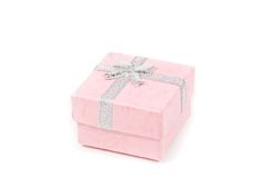 Small pink present box Stock Images