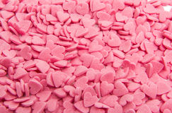 small pink sugar hearts Royalty Free Stock Photo