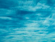 Small pinnate-layered and feathered clouds on a Sunny day in early summer stock images