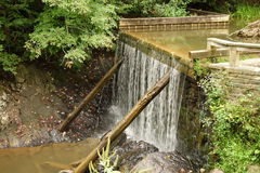 An small pioneer mill dam in virginia Royalty Free Stock Image