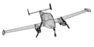 Small Piper Airplane Stock Photo