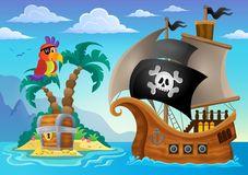 Small pirate island theme 2 Royalty Free Stock Image