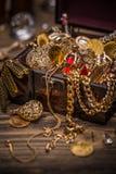 Small pirate treasure chest Stock Photos