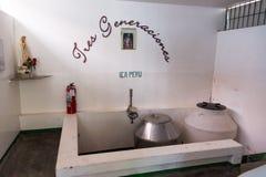 Small Pisco Distillery. ICA, PERU - OCTOBER 28: Three Generations pisco distillery in Ica, Peru on October 28, 2014 stock photos