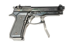 Small pistol with handle Stock Photo