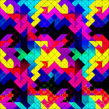 Small pixels colored geometric background seamless pattern vector illustration Royalty Free Stock Photography