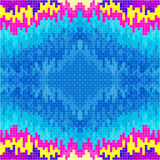 Small pixels psychedelic colored geometric background Stock Photos