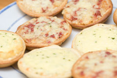Small pizzas Royalty Free Stock Image