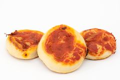 Small pizzas Stock Image