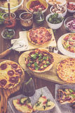 Small pizzas Royalty Free Stock Images