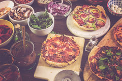 Small pizzas Royalty Free Stock Photos