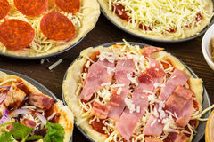Small pizzas Royalty Free Stock Photography