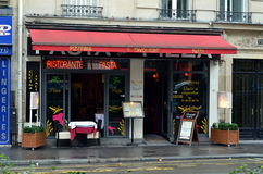 Small pizzeria in Paris Royalty Free Stock Photo