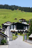 Lech in Austria is a favorite winter sports destination but during the summer can you walk a lot here Stock Images