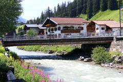 Small place Lech is a municipality in the West-Austrian state of Vorarlberg Royalty Free Stock Photo