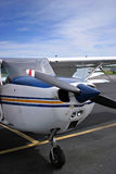 Small Plane. The front of a small Cessna plane Stock Images