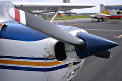 Small Plane. The front of a small Cessna plane Royalty Free Stock Photos