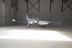 Small plane in an aerodrome Stock Photo