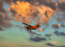 Small plane against the sky Stock Photography