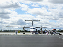 Small plane boarding Royalty Free Stock Photos