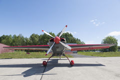 Small plane with central propeller Stock Images