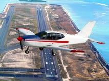 Small plane cruising Royalty Free Stock Photography