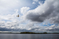 Small plane in the Kenai Wildlife Refuge Royalty Free Stock Photography