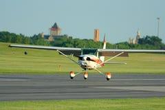 Small Plane Landing Stock Photos