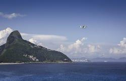 Small plane over Rio De Janeiro Royalty Free Stock Photography