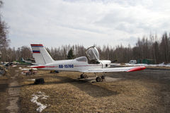 Small plane. Small parked plane, Kronstadt, Russia Stock Image