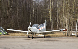 Small plane. Small parked plane, Kronstadt, Russia Royalty Free Stock Image