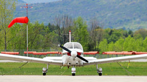 Small plane parked Stock Images