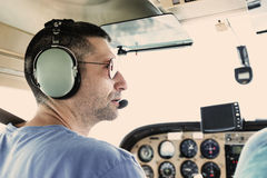 Small Plane Pilot Stock Photo