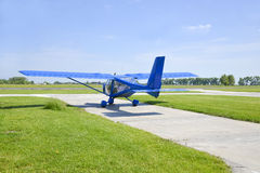 Small plane preparing to take off Royalty Free Stock Photos