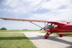 Small plane preparing to take off Stock Photo