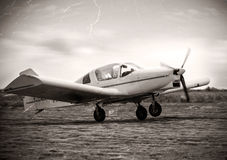 Small plane take of Stock Images
