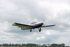 Small plane takeoff Stock Photography