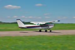 Small plane takeoff royalty free stock photos