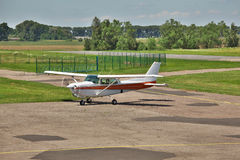 Small plane taxiing royalty free stock photos