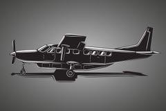 Small plane vector illustration. Big single engine propelled passenger aircraft. Small plane vector illustration. Big single engine propelled aircraft. Vector Stock Photo