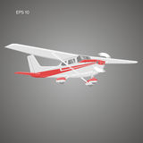 Small plane vector illustration. Single engine propelled aircraft. Vector illustration. Small plane vector illustration. Single engine propelled aircraft Royalty Free Stock Images